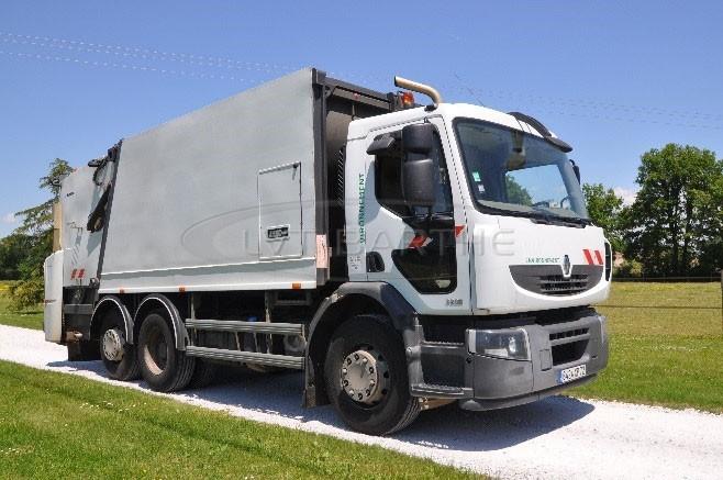 Location BOM Renault 320 DXI avec benne Faun